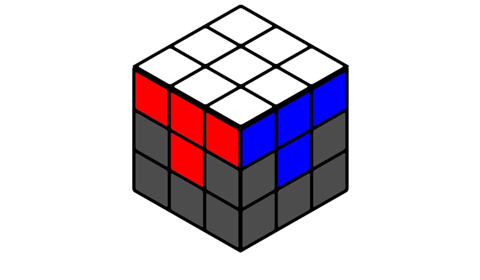 Кубик Рубика белая сторона-1