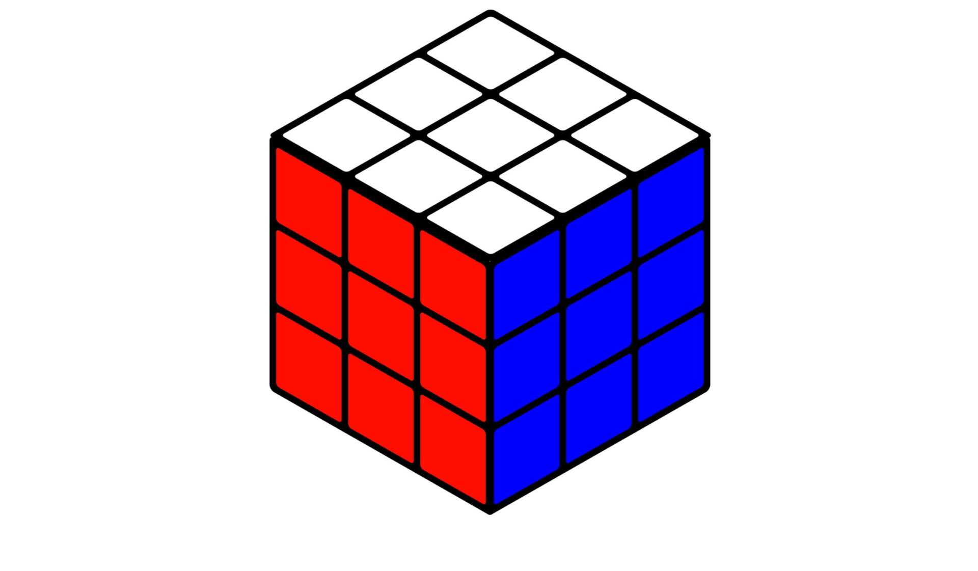Кубик Рубика без надписей-1