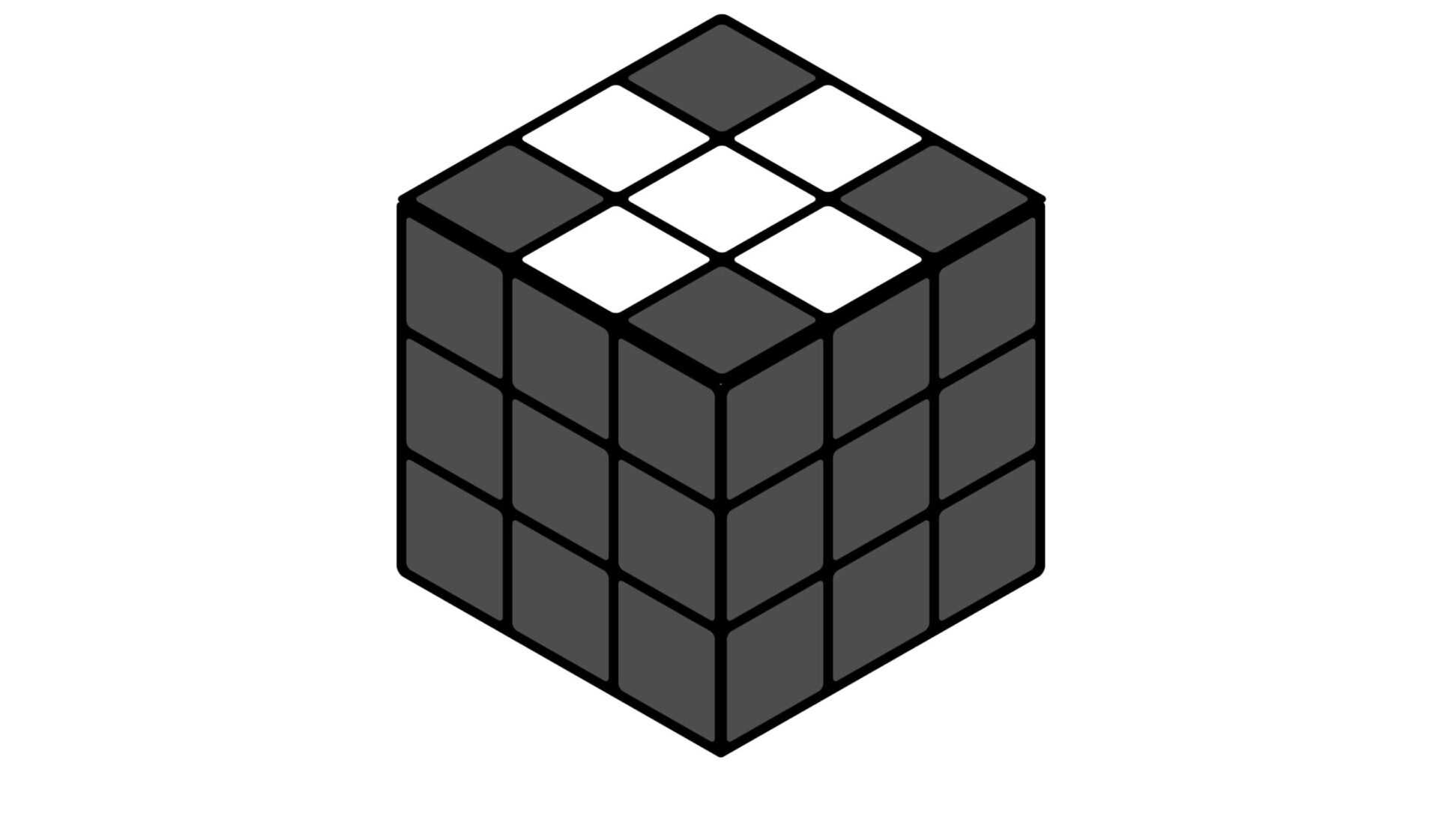 Кубик Рубик: обычный крест