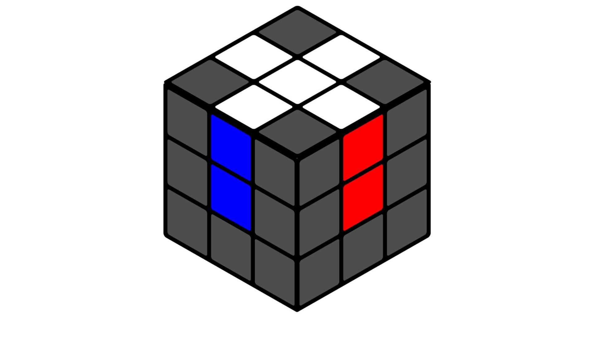 Кубик Рубика правильный крест
