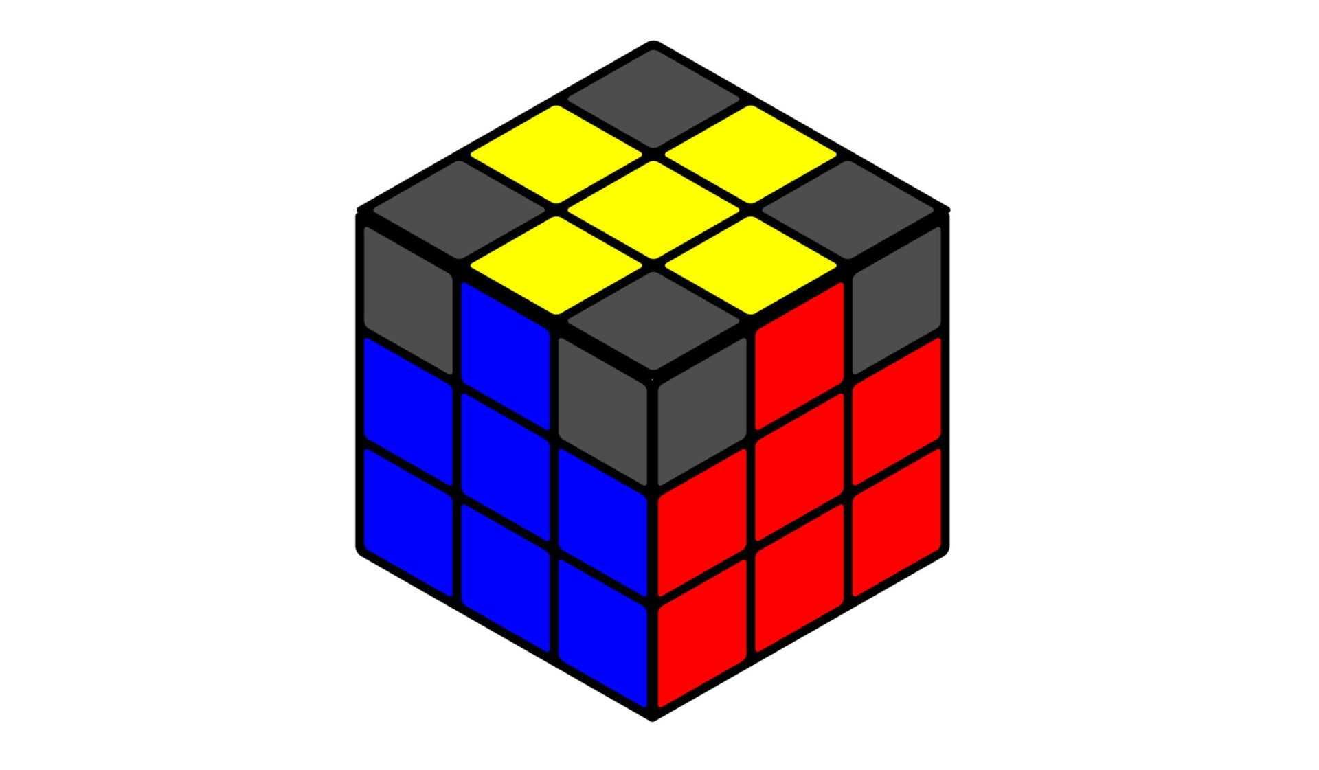 Правильный желтый крест - Кубик Рубика