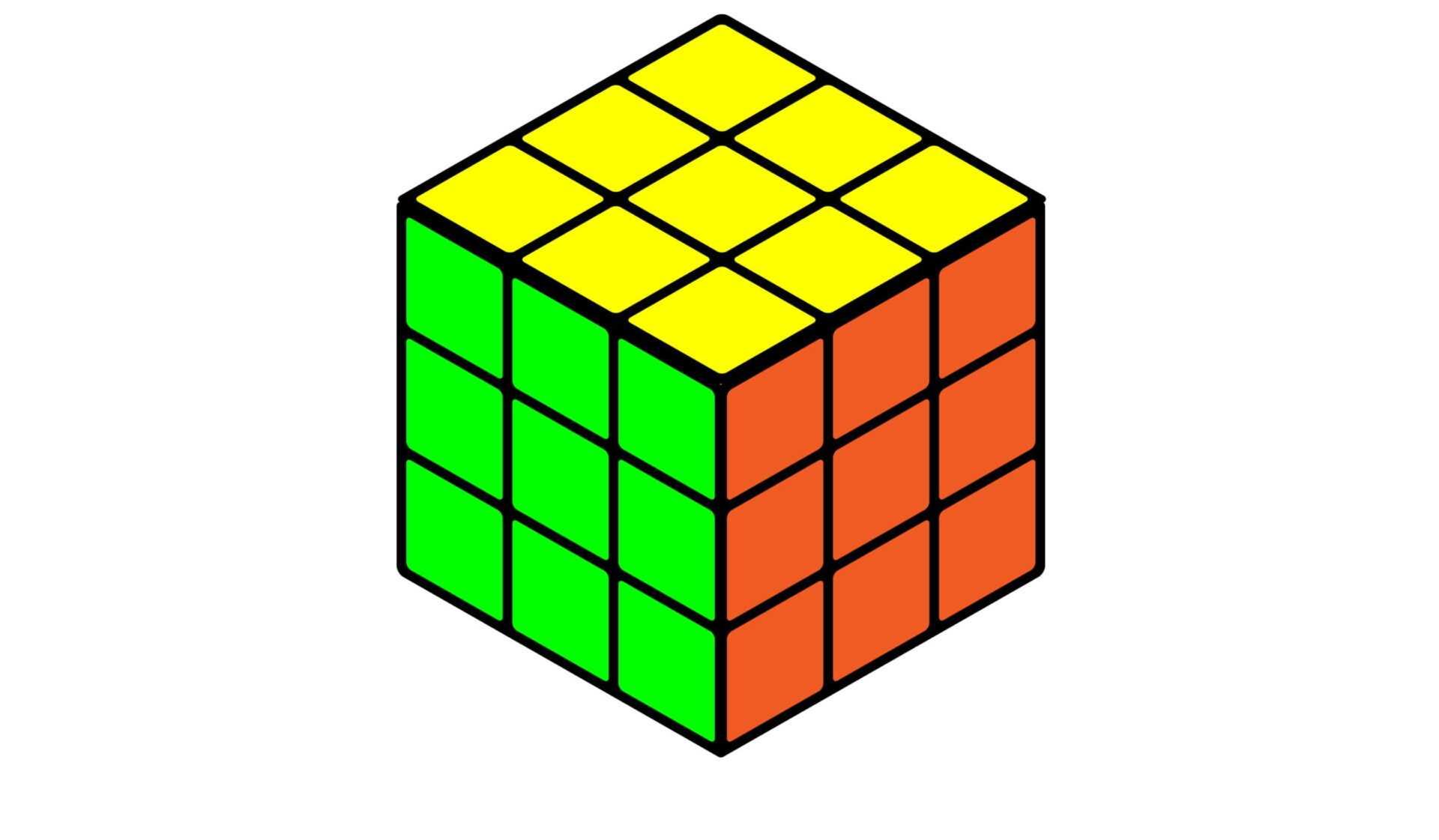 Кубик Рубика с обратной стороны-1