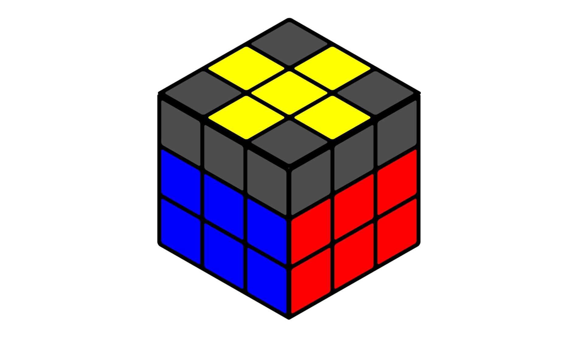 Кубик Рубика желтый крест