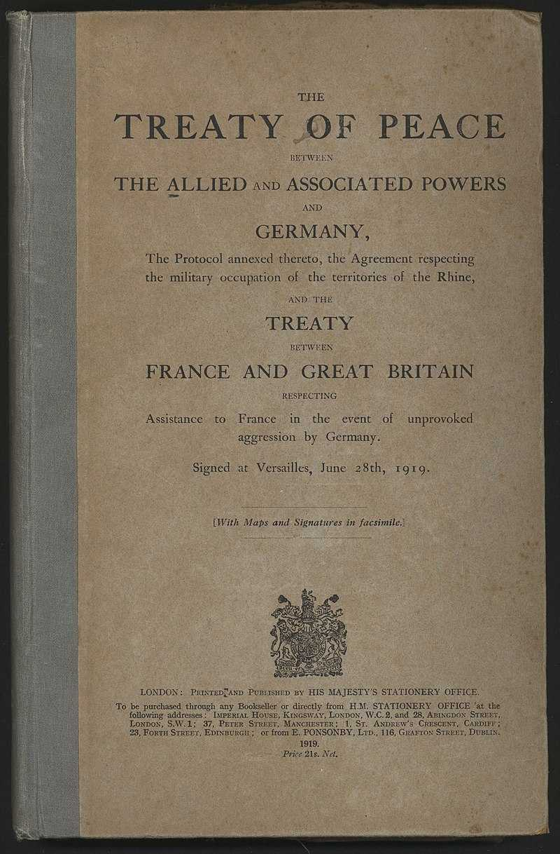 Версальский договор: мифы о Второй Мировой войне