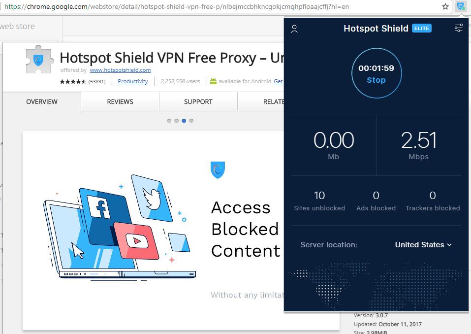 Расширения для Google Chrome для обхода блокировки: Touch VPN
